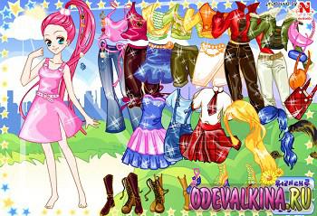 Главная страница одевалки аниме