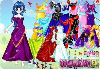 Игры одевалки аниме для девочек